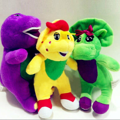 18CM Barney and Friends Soft Plush Dinosaur Toy with Music Player Cute Kids Gift