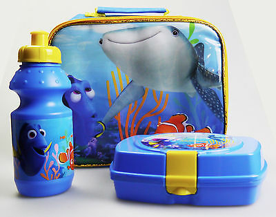 Nemo Fing Fory 3 piece School Lunch Box Lunch Bag Drinks Bottle Set
