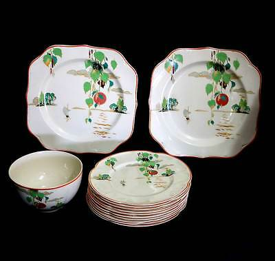 Vintage art deco Johnson Brothers Victorian afternoon tea set