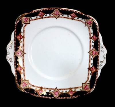 Vintage 1916-1930 Standard China beautiful hand coloured pink roses cake plate
