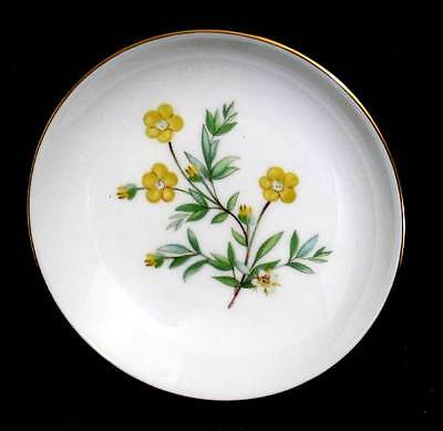 Vintage Mintons Meadow pretty yellow flower pin dish in original box