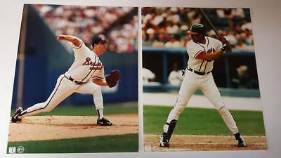 "Lot Of 2  Atlanta Brave's Vintage 8"" X 10"" Mlb  Photos"