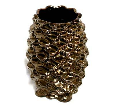 Vintage Sylvac bronze large fir cone vase in lovely condition 18cm