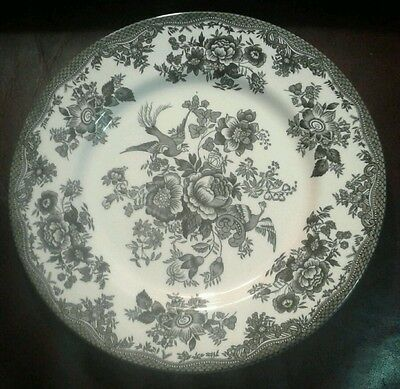 Royal Stafford Dinner Plate Asiatic Pheasant Black White Toile