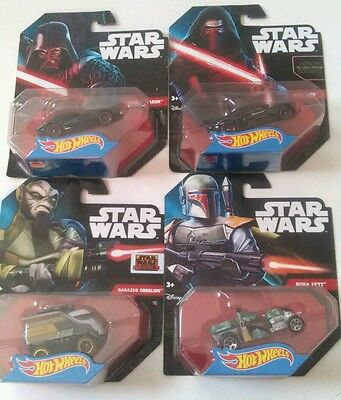 Star Wars Hot Wheels Collectible Set of 4 New Sealed in Package