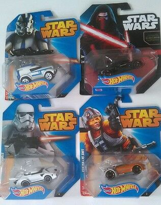 Star Wars Hot Wheels Collectible Set of 4