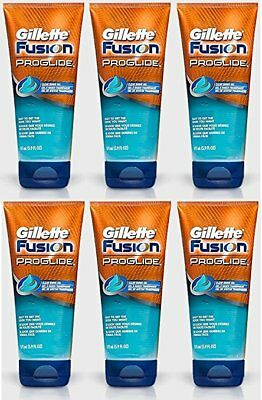 6X Gillette Fusion Proglide Clear Shaving Gel Tube 175ml