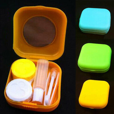Set Container Easy Carry Travel Kit Mirror Hot Mini Contact Lens Case