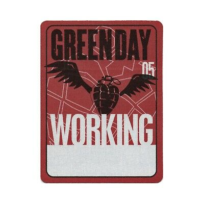 Green Day authentic 2005 American Idiot Tour satin Backstage Pass crew red