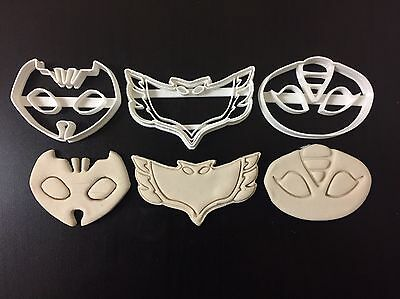 Pj mask SYMBOLS Uk Seller Plastic Biscuit Cookie Cutter Fondant Cake Decorating