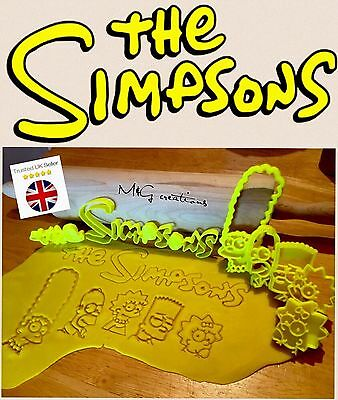 The Simpsons Uk Plastic Cookie Cutter Biscuit Fondant Cake Decorating