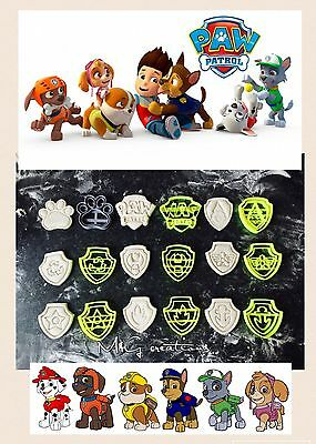 Paw Patrol Cookie Fondant Cutter Set Cupcake Cake Decoration Gift Badge