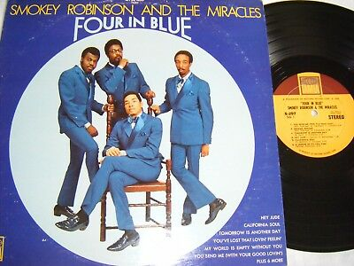 Smokey Robinson And The Miracles - Four In Blue Lp,  Ex.