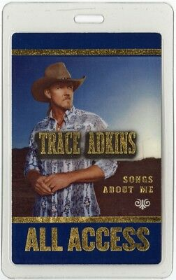Trace Adkins authentic 2005 concert Laminated Backstage Pass Songs About Me Tour