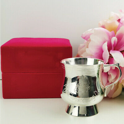 Baby Girl Christening Cup - Silver Plated | Christening Gift
