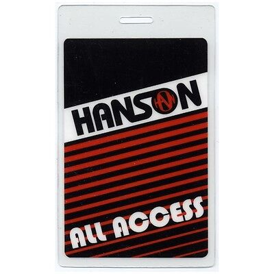 Hanson authentic concert tour Laminated Backstage Pass ALL ACCESS