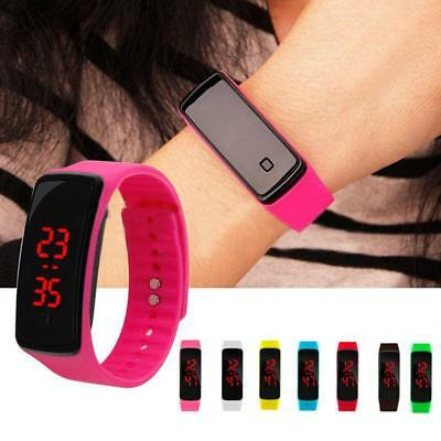 Fashion LED Digital Unisex Silicone Wrist Band Sports Watch Gift Men Women