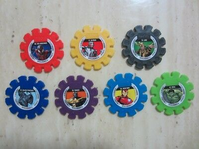 7 x Woolworths Marvel Heroes Super Disc ALL RARE SET #6 #12 #18 #24 #30 #36 #42