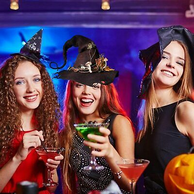 Witches Witch Halloween Children Adult Hat Fancy Dress Costume Accessory