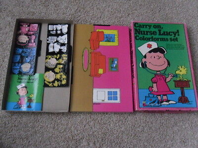 VTG 1965 Colorforms Carry on, Nurse Lucy! Charlie Brown Peanuts Play Set No.754