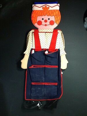 Raggedy Andy hanging storage pockets vintage made in Hong Kong good condition