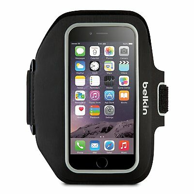 Belkin Sport-Fit Plus Armband for iPhone 5 / 5S / 5C , (Black+White) Slim-Fit lq