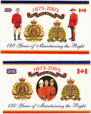 Rcmp Souvenir 130Th Anniversary Post Cards 1873-1973  2 Styles 2 Of Each