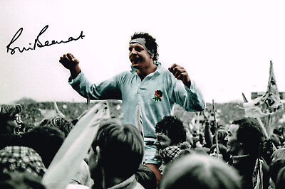 Bill Beaumont 1980 Signed England Rugby Photo Autograph Coa 12 X 8 Inch