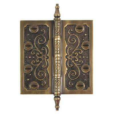 Brass Elegans Brass Elegans LF002AB Lafayette Solid Brass Decorative Door Hinge