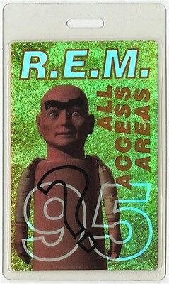REM authentic 1995 concert Laminated Backstage Pass Monster Tour ALL ACCESS