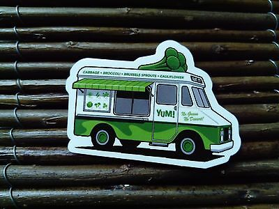 Yum Veggie Vegan Truck Skateboard Snowboard Sticker Helmet Laptop Vegetarian Rv