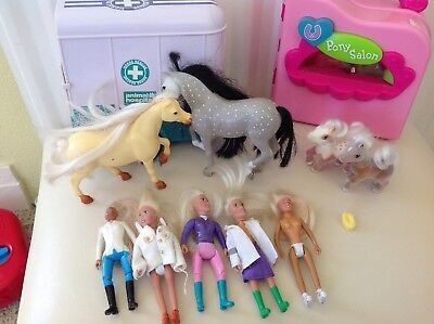 Vintage Animal Hospital Horse Rescue and Pony In My Pocket Bundle
