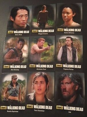 Cryptozoic 2016 WALKING DEAD Season 4 PART 2 CHARACTER INSERT SET C10-18