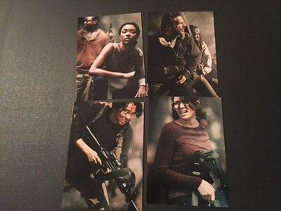 Cryptozoic 2016 WALKING DEAD Season 4 PART 2 POSTERS INSERT SET D5-8
