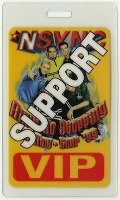 N Sync authentic 1999 Tour original Laminated Backstage Pass Justin Timberlake