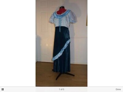 Victorian/ Edwardian,Historical Period Empire line Dress Theatrical,panto,Whitby