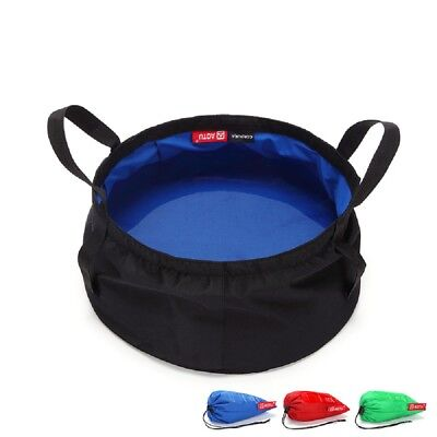 8.5L Portable Folding Wash Basin Bucket Water Bag Footbath Outdoor Camping