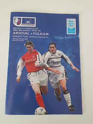 Arsenal Fulham Womens FA Cup Final Programme
