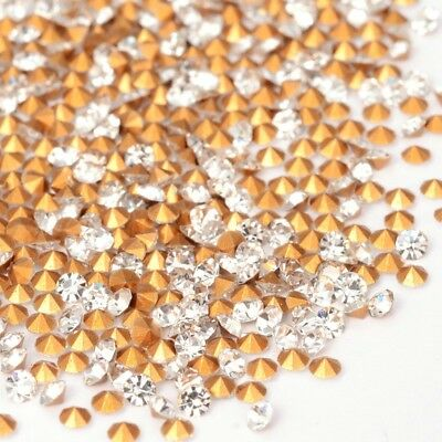 LOT de 100 Perles Strass Diamant Conique en VERRE Couleur Crystal 2mm Grade AAA