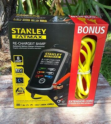 Stanley FatMax RE-CHARGE-it 8AMP Automatic Battery charger & maintainer