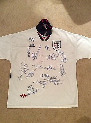 England official signed football shirt 1995 UEFA U16 Championships