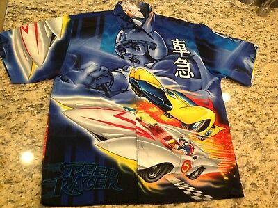 RARE 2001 Speed Racer Mach V / Racer X Button Up Men's Casual XL New w/ Tag !!