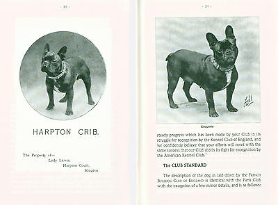Dog Book Booklet The History of French Bulldog by Stubbs Private Reprint