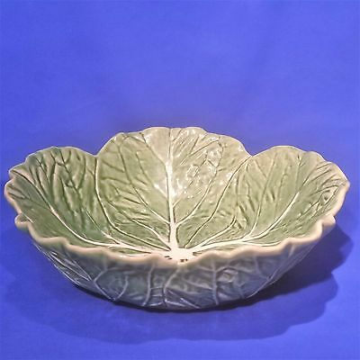 "Vintage BORDALLO PINHEIRO - LARGE CABBAGE LEAF SALAD SERVING BOWL (11½"") - VGC"