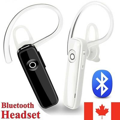 Wireless Bluetooth Headset Handsfree Stereo For Car Driver Call With Mic