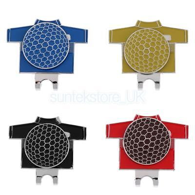 Set of 4 Golf Ball Marker with Magnetic Hat Clip Golf T-shirt Pattern