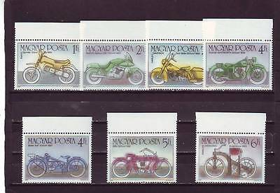 a123 - HUNGARY - SG3673-3679 MNH 1985 CENTENARY OF THE MOTOR CYCLE