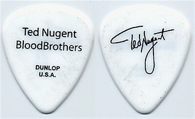 Ted Nugent authentic 2008 Blood Brothers concert tour custom stage Guitar Pick