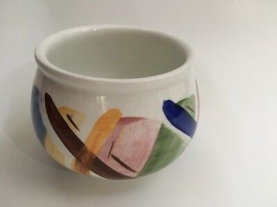 Portmeirion Aztec Sugar Bowl Open Salt Hand Painted Made In Great Britain 🇬🇧