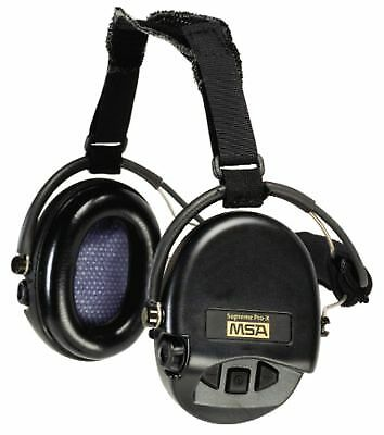 (Closeout) MSA 10149445 Supreme Earmuff with Black Neckband, Black Cups with Gel